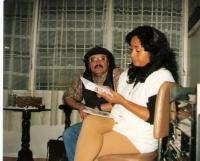 Junto al escritor Amable Fernández