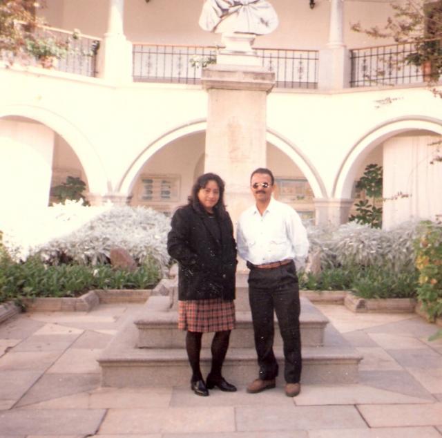 Con Enrique Plata