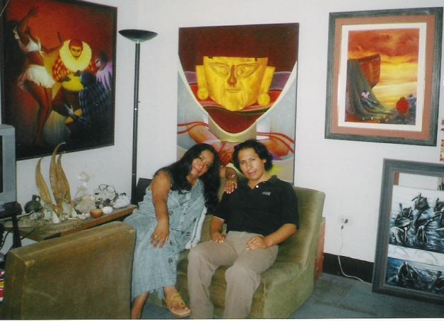 con el pintor Ravi, Perú